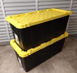 2 HDX 55 Gallon Tough Totes With Lids