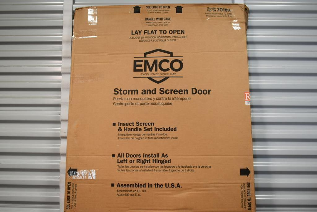 New Emco 300 Series Self Storing Storm Door With Retractable Insect Screen Industrial Machinery Equipment General Merchandise Auctions Online Proxibid