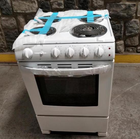 NEW Hotpoint 24in Electric Range White