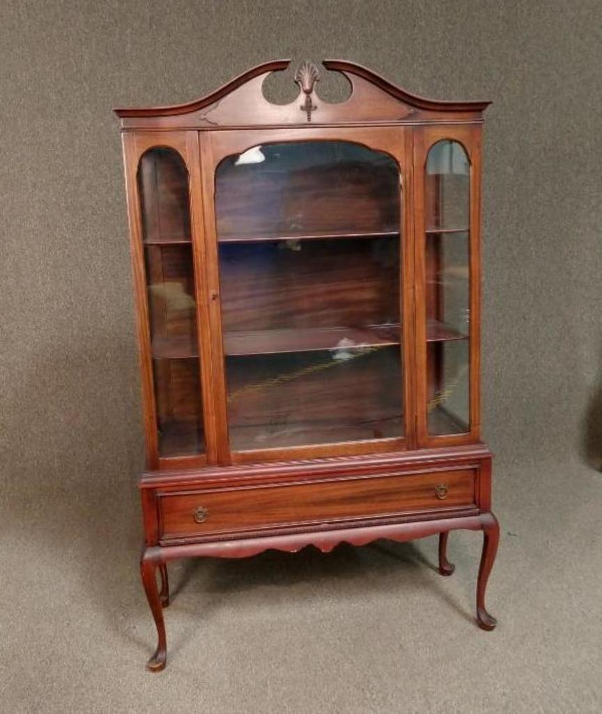 Vintage Queen Anne China Cabinet