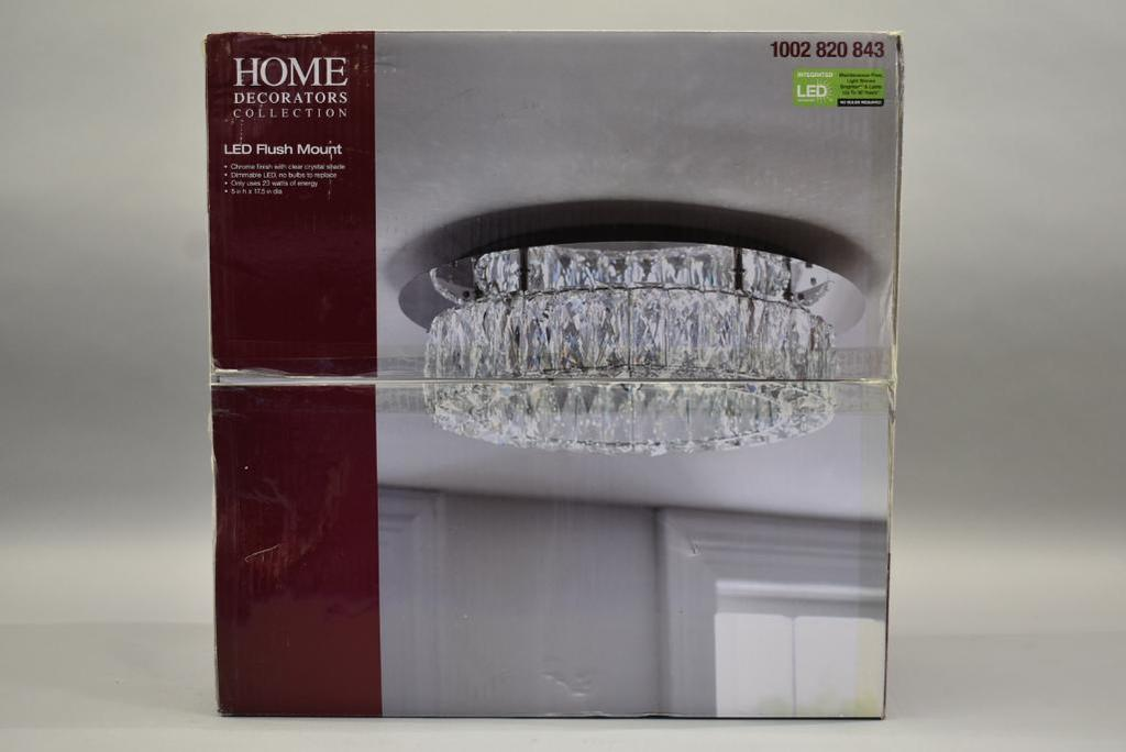 Home Decorators Led Flush Mount Crystal Ceiling Light Industrial Machinery Equipment Business Liquidations Home Improvement Retail Online Auctions Proxibid
