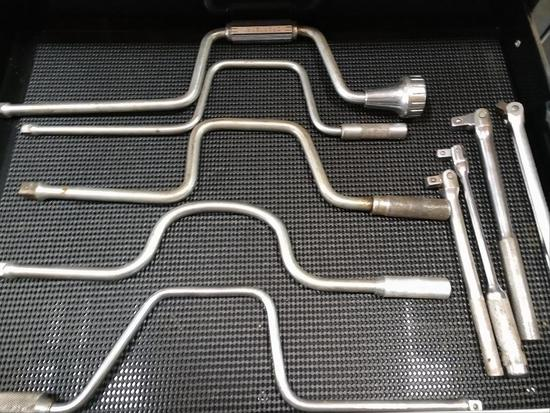 LOT of Breaker/Pry Bars And Speed Wrenches