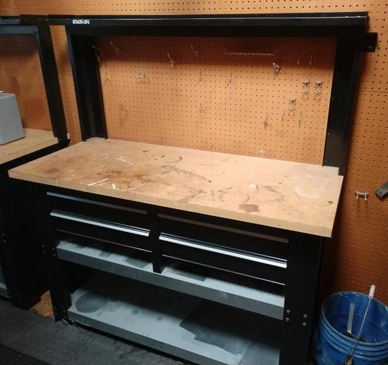 Stack-On Workbench With 4 Drawers