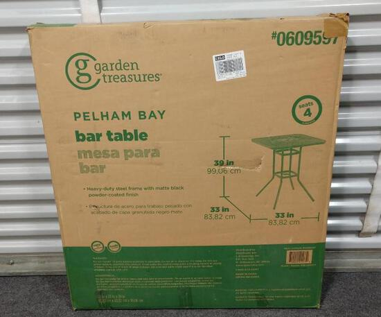 Garden Treasures Pelham Bay Bar Table