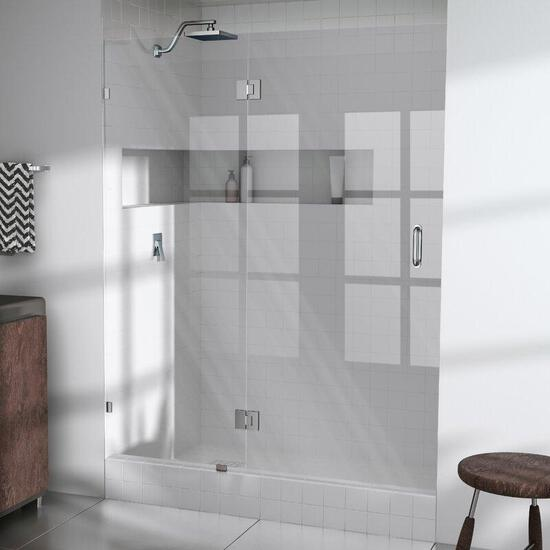 NEW Glass Warehouse Hinged Frameless Shower Door