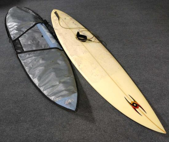 Surfboard With Travel Bag