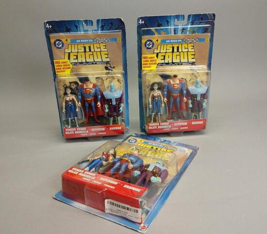 3 DC Comics Justice League Action Figure Sets