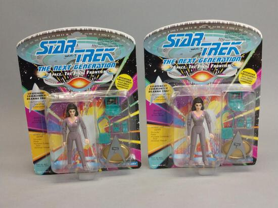 2 Star Trek The Next Generation Action Figures