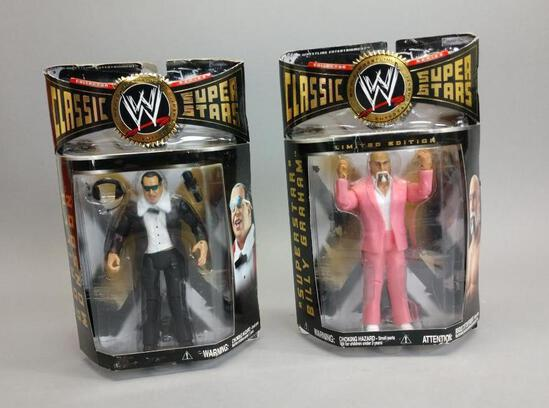 2 WWE Classic Wrestling Action Figures