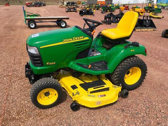 John Deere X585 lawn tractor; ... Auctions Online   Proxibid on