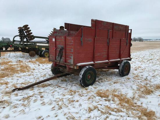 Hyd lift barge box on running gear.