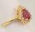 Pink Sapphire Diamond Ring Image 2