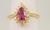 Pink Sapphire Diamond Ring Image 1