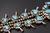 7.47 Oz Vintage Navajo Squash Blossom Necklace Image 14