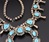 7.47 Oz Vintage Navajo Squash Blossom Necklace Image 7