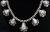 Signed High Grade Dry Creek Squash Blossom Necklace Image 11