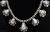 Signed High Grade Dry Creek Squash Blossom Necklace Image 3