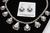 Signed High Grade Dry Creek Squash Blossom Necklace Image 9