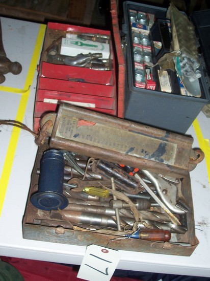 Asst. spark plugs, drill bits