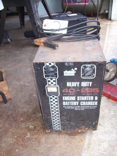 Engine starter and battery charger.  Heavy Duty 40 amp with 225 amp. engine start