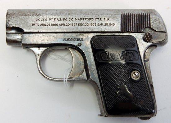 Colt Model 1908 Hammerless Semi Auto Pistol