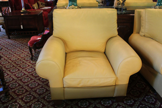 Four Leather Armchairs