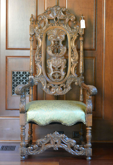 Pair of Renaissance Style Carved Armchairs