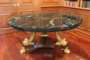 Giltwood and Mahogany Empire Style Table