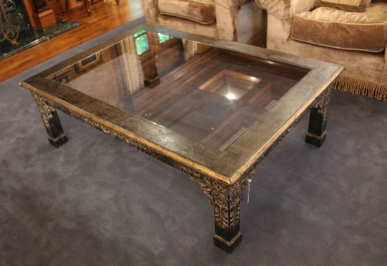 Floral Carved Giltwood Coffee Table