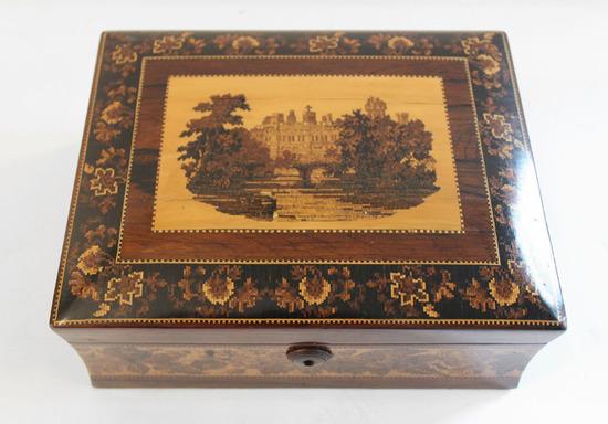 19th Century French Marquetried Jewel Box