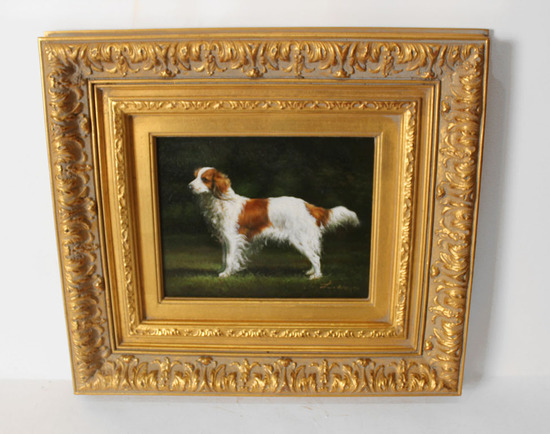 L. Lianyao,Oil. Dog Painting.