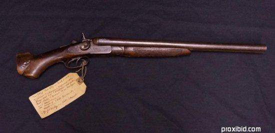 Cut Down T. Barker 12 Gauge Shotgun