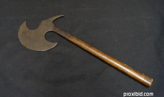 18th C. Spiked Halberd Tomahawk