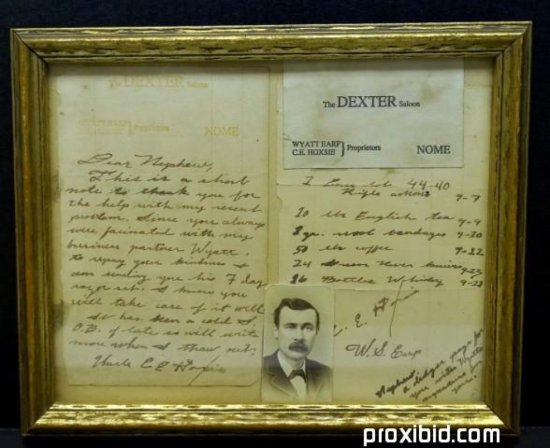 Wyatt Earp Ephemera Lot with Signature