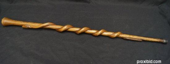 Walking Stick. Carved Wood Snake