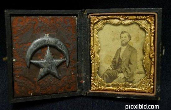 Daguerreotype Gentleman & a Santa Fe Badge