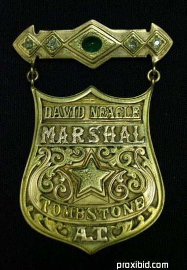 David Neagle Tombstone Marshal Badge