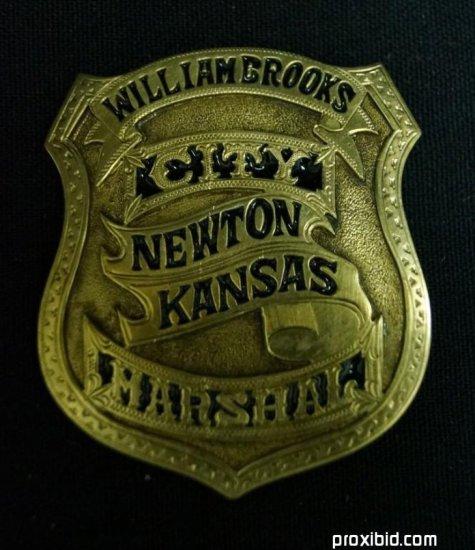William Brooks Marshal Badge