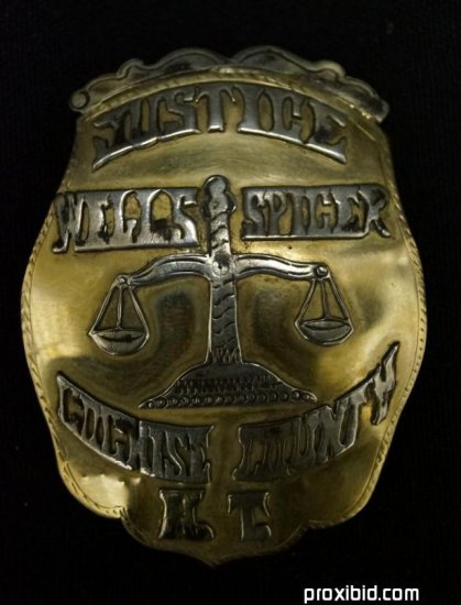 Justice Badge Cochise County A. T.