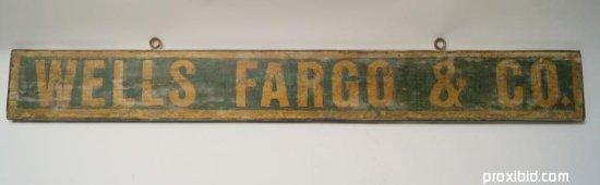 Wells Fargo Hand Painted Sign
