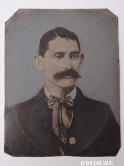 Tintype of Frank James.