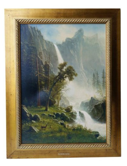 After Bierstadt. Bridal Veil Falls