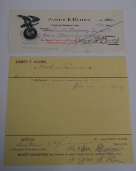 Autograph of James Burns
