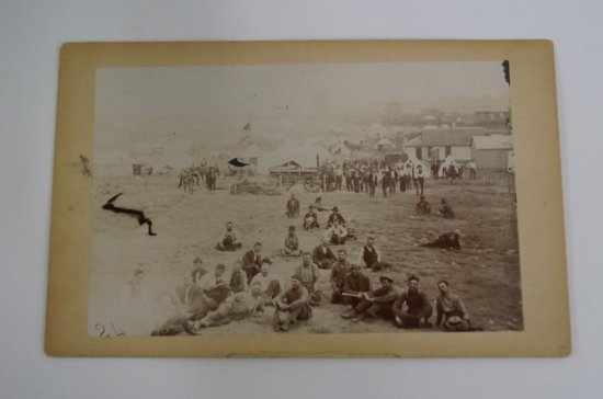 Oklahoma Land Rush Cabinet Card