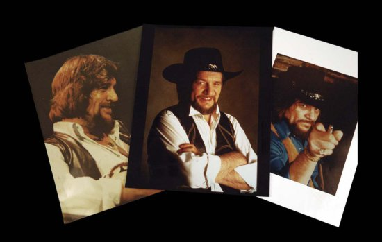Four Unpublished Vintage Photographs of Waylon