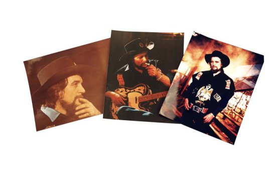 Four Color Photographs of Waylon in His Iconic Poncho