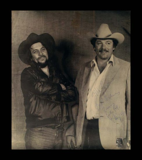 Vintage Photograph of Waylon Jennings and Billy Bob