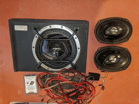 Sony Subwoofer & Vehicle Sound System w/ cables