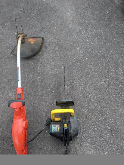 Electric Chainsaw & Electric Weedeater