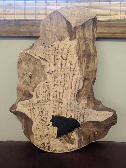 wood art piece - bear